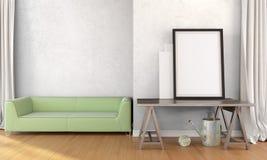 Interior brillante moderno 3d rinden ilustración del vector