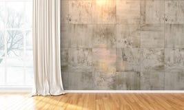 Interior brillante vacío 3d rinden ilustración del vector
