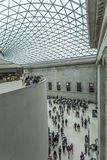 Interior of the British Museum with the glazed canopy Stock Photo