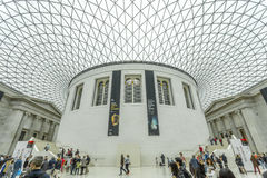 Interior of the British Museum with the glazed canopy Stock Photos