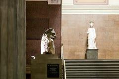Interior of British museum in London Royalty Free Stock Photo