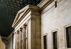 Interior of British museum in London Royalty Free Stock Image
