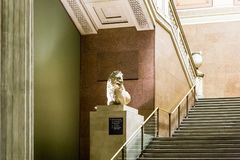 Interior of British museum in London Royalty Free Stock Photos