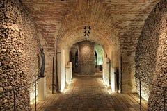 Interior of the Brno ossuary, Czech Republic Stock Photography