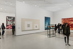 Interior of The Broad Contemporary Art Museum. LOS ANGELES, CALIFORNIA - JULY 5, 2016: The Broad, a contemporary art museum in Los Angeles, California, home to Stock Images