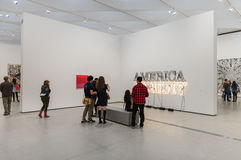 Interior of The Broad Contemporary Art Museum. LOS ANGELES, CALIFORNIA - JULY 5, 2016: The Broad, a contemporary art museum in Los Angeles, California, home to Stock Photos