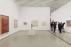 Interior of The Broad Contemporary Art Museum. LOS ANGELES, CALIFORNIA - JULY 5, 2016: The Broad, a contemporary art museum in Los Angeles, California, home to Royalty Free Stock Images