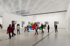 Interior of The Broad Contemporary Art Museum. LOS ANGELES, CALIFORNIA - JULY 5, 2016: The Broad, a contemporary art museum in Los Angeles, California, home to Royalty Free Stock Photos