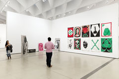 Interior of The Broad Contemporary Art Museum. LOS ANGELES, CALIFORNIA - JULY 5, 2016: The Broad, a contemporary art museum in Los Angeles, California, home to Royalty Free Stock Photo