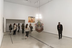 Interior of The Broad Contemporary Art Museum. LOS ANGELES, CALIFORNIA - JULY 5, 2016: The Broad, a contemporary art museum in Los Angeles, California, home to Stock Photo