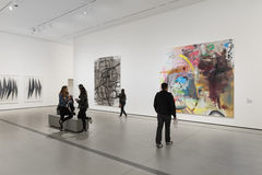 Interior of The Broad Contemporary Art Museum stock image