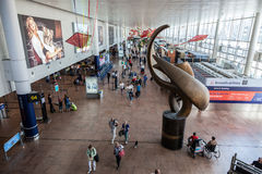 Interior of the Brussels International Airport Stock Images