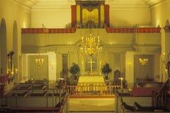 Interior of Bruton Parish , Williamsburg, Virginia Royalty Free Stock Image