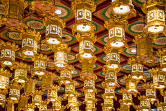 Interior of the Buddha Tooth Relic Temple Royalty Free Stock Photo
