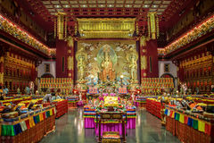 Interior of the Buddha Tooth Relic Temple Royalty Free Stock Image
