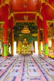 Interior of Buddhism church,Wat Don Kaew Stock Photography