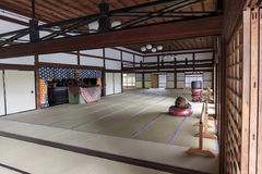 Interior of a buddhist temple in Arashiyama district  in Kyoto, Stock Photography