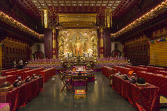 Interior of Buddhist temple Royalty Free Stock Photography