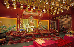 Interior of a buddhist temple Stock Photo
