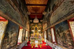 Interior of Buddhist temple Royalty Free Stock Images