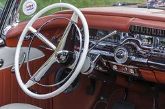 Interior of Buick automobile at an exhibition Royalty Free Stock Image