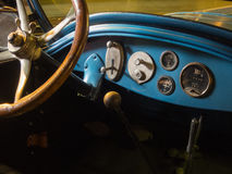 Interior, 1925 Buick Roadmaster. Simple classic automobile dashboard, 1925 Buick Roadmaster Royalty Free Stock Photography