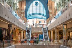 The interior of the building of Mercado Colon in Valencia, Spain stock images
