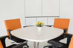 Interior building, office with modern white furniture royalty free stock images