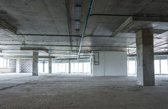 Interior of the building under construction Stock Images