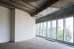 Interior of the building under construction Royalty Free Stock Photos