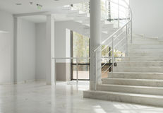 Interior of a building with white walls Stock Photo