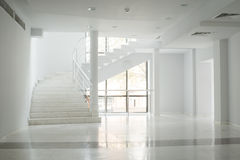 Interior of a building with white walls Royalty Free Stock Photos
