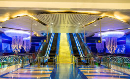 Interior of BurJuman metro station in Dubai, UAE Stock Photo