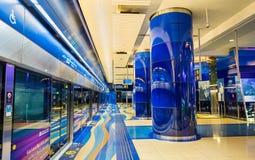 Interior of BurJuman metro station in Dubai Royalty Free Stock Image