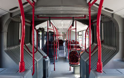 Interior of a bus. Interior of a public bus, no body Stock Images