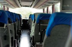 Interior of a bus Royalty Free Stock Images