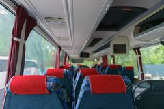 Interior of a bus Stock Image