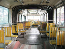 Interior of the bus Stock Image