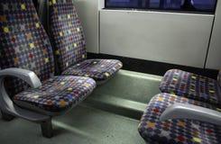 Interior bus seats royalty free stock image