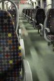 Interior bus seats stock photos
