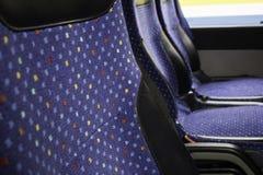 Interior bus seats stock photography