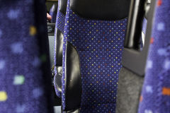 Interior bus seats royalty free stock images