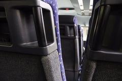Interior bus seats stock image