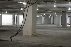 Interior of business center under construction Royalty Free Stock Images