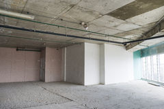 Interior of business center under construction Stock Image