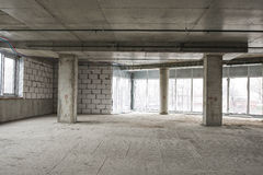 Interior of business center under construction Royalty Free Stock Image