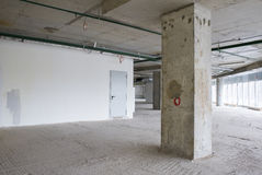 Interior of business center under construction Stock Photography