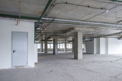 Interior of business center under construction Stock Images