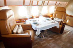 Interior of Business Jet Stock Images