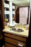 Interior of Business Jet: Bathroom Stock Photo